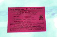 Werbeblatt Meistersinger Pack Herold Aiguilles Rares Publicité De L'aiguille K37