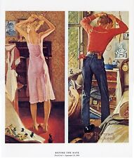 Norman Rockwell Getting Ready Print Before The Date
