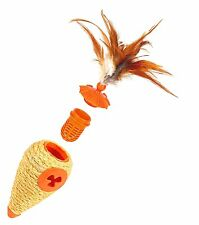 Rosewood Pet L'Chic CONE Cat Toy 3 in 1 Toy Treat Dispenser CATNIP and Sisal
