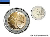 2 Euros Commémorative Estonie 2017 Independence UNC