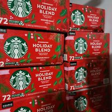 Starbucks Limited Edition Christmas / Holiday Blend Coffee 72 K-CUP Exp 4/2022