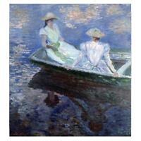 Claude Monet Malerei auf dem Boot