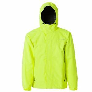 Yellow Grundens Full Share Hooded Commercial Fishing Jacket Rain Coat Parka