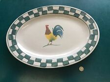 "Mulberry Home Collection Hand Painted Rooser 14-3/4"" Stoneware Platter"