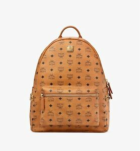 MCM BackpackMedium Stark Side Studs Cognac