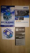 MSI H57M-ED65, MS-7587, User Guide, Handbuch mit Treiber CD