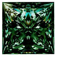 Loose Moissanite Diamond 4 Ring/Pendant 2.78 ct Vs1/8.80Mm Deep Blue Princess