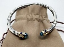 David Yurman Renaissance Bracelet With Blue Topaz Lapis Lazuli 14k Gold