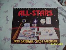 1990 SCD / BCN / BCM Baseball Cards Calendar - MLB