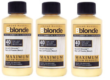 3x Jerome Russell Bblonde Cream Peroxide 40vol 12%