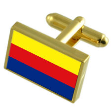 Noord-Holland Gold-Tone Country Flag Cufflinks Select Gift Pouch