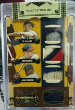 2008 TED WILLIAMS BOUDREAU JACKIE ROBINSON Prime Cuts Triple Game Worn Patch 1/1