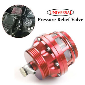 Red Blow Off Valve Universal Aluminum Alloy Turbo Exhaust Blow Off Valve Adapter