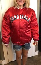 St. Louis Cardinals Youth XL RED Satiny Baseball Jacket Mighty Mac Sports NWT