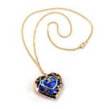 Gold Plated Heart Container Zelda Necklace the legend of zelda mana pendant BLUE