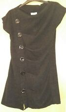 Black Fine Knit Tunic Top with Button Detail - New with Tags