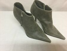 Michel Perry Gray Suede Pointed-Toe Booties Boots Euro 36.5 MSRP $480