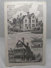 HOLLIES HINCKLEY COFFEE HOUSE CRANBROOK KENT 19th Century Antique Plate 1880*