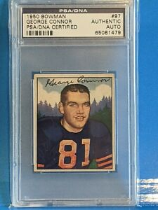 George Connor 1950 Bowman signed/auto - PSA/DNA - Notre Dame Collection