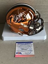 Clay Matthews Signed Autographed Cleveland Browns Chrome Mini Helmet Psa/Dna