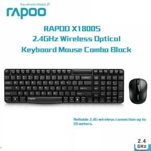 Rapoo X1800S Wireless Optical Keyboard and Mouse Combo Bundles USB 1000DPI