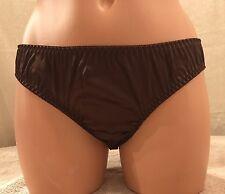 LILYSILK, Size Medium, 93% Silk/7% Spandex, Brown Bikini Panties.   NEW.