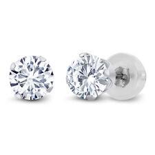 Charles & Colvard 14K White Gold Earrings Forever Classic Moissanite 1.00ct DEW