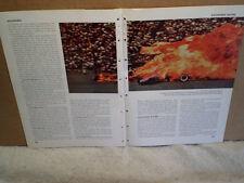 1965 INDIANAPOLIS 500 DAVE McDONALD 1964 CRASH PICTURE PRINT,Racing,car,fire