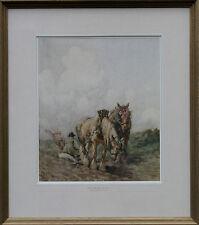 Nathaniel Hughes John Baird 1865-1935 Plough Caballos Retrato escocés Pintura