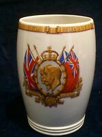 1910-1935 King George V and Queen Mary Silver Jubilee Porcelain Beaker