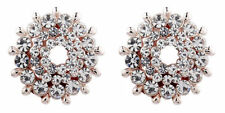 Rose Gold Plated Cubic Zirconia Stud Costume Earrings