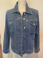 WOMEN'S J. JILL DENIM JEANS STRETCH JACKET WEEKENDWASH SOFT Cotton Small Petite