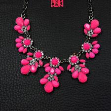 New Pink Rhinestones Lovely Flower Pendant Betsey Johnson Necklace
