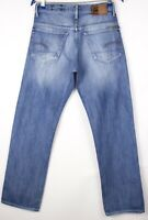 G-Star Brut Hommes 3301 Original Jeans Jambe Droite Taille W30 L32 ASZ587