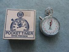 Swiss Made PIC Shock Resistant Vintage Mechanical Wind Up Stop Watch Stopwatch