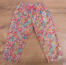 Superbe pantalon motifs Liberty Print 2 ans Rose jaune vert orange Printemps/été