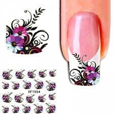 J414 NAGELSTICKER FReNCH STYLE Blumen Ranken Sticker Aufkleber Fingernagel Nagel