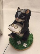 Charming Tails The Ring Bearer Fitz and Floyd Wedding Skunk in Box w tags Nos