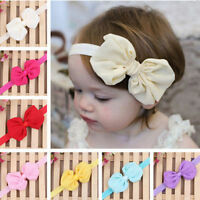 12PCS Cute for Kids Girl Baby Infant Bowknot Headband Hair Bow Band HeadwearWA