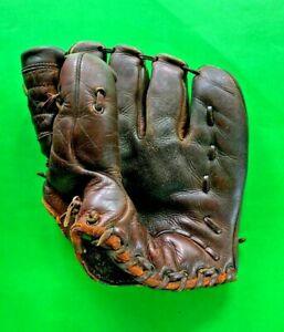 Vintage 1940'S-1950'S Leo A Reach Left Hand Leather Baseball Mitt