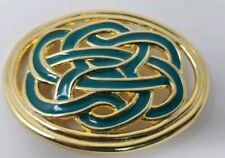 Vintage Day-Lor Gold and Green Enamel Belt Buckle