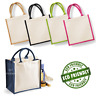 WESTFORD MILL MIDI JUTE BAG COLOURS NATURAL ECO REUSABLE TOTE SHOPPER LUNCH GIFT