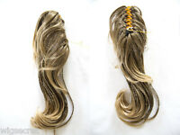 22 Long Kinky and Mixed Blonde Brunette Red Curly Clip-in-Extencions Hair Pieces