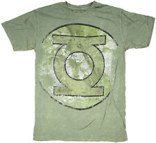 Green Lantern Logo T-Shirt Vintage Distressed DC Comics Licensed Mens S-2XL NEW
