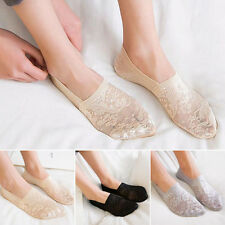 e895138e5 Women Summer Antiskid Invisible Loafer Lace Boat Liner Low Cut Cotton Socks  C