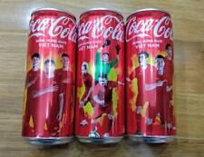 1 lot Limited Edition AFF Suzuki Cup Vietnam Coca Cola, empty 3 sleek cans 330ml