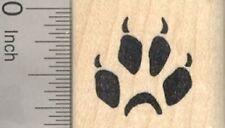 Red Fox Track Rubber Stamp, Footprint, Paw Print A24210 WM