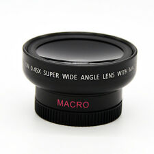 37mm HD 0.45x Wide Angle Macro Conversion Lens + Bag for Canon Nikon Sony Camera