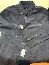 Vineyard Vines Men's Shirt 100% Cotton Blue Corduroy Button Up Size L NWT
