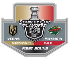 2021 STANLEY Tasse Playoffs Broche Vegas Knights Sauvage 1ST Premier Rond NHL